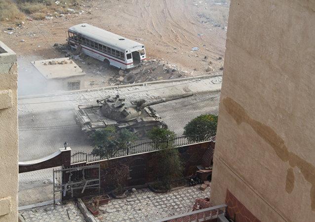 Situación en Harasta, Guta Oriental, Siria (archivo)