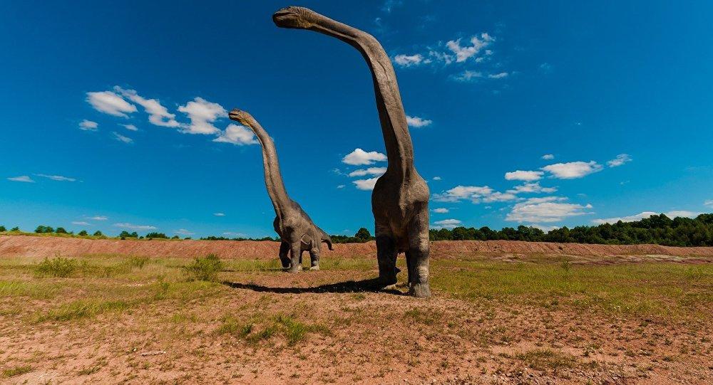 Hallaron cerca de 50 enormes huellas de dinosaurios