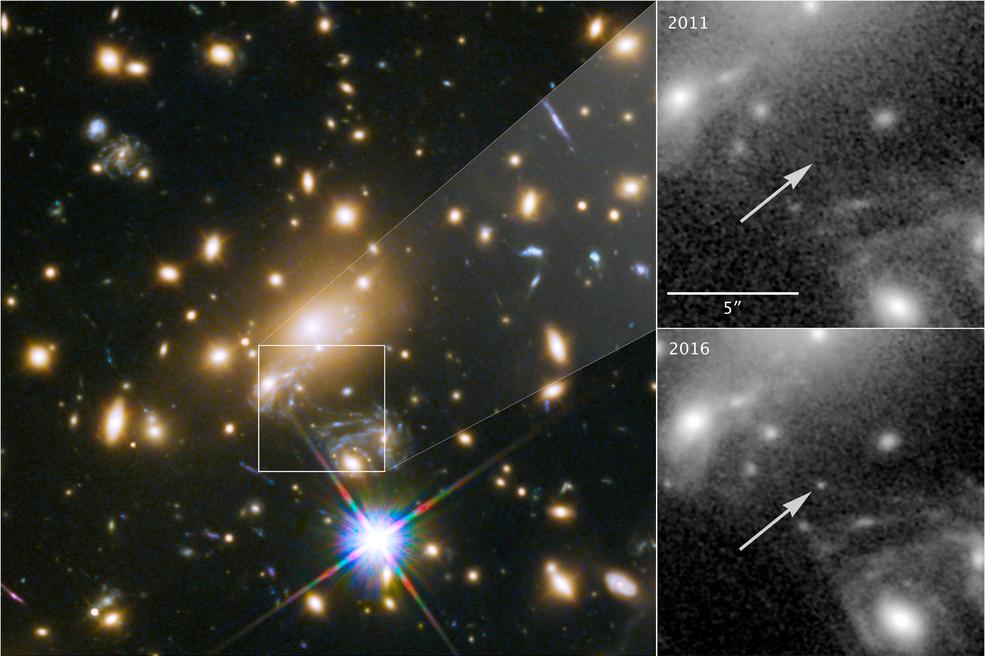 Icarus, cuyo nombre oficial es MACS J1149+2223 Lensed Star 1