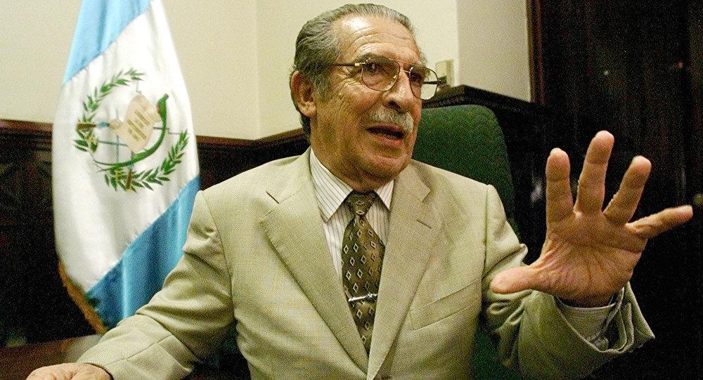Efraín Ríos Montt, exdictador guatemalteco (archivo)