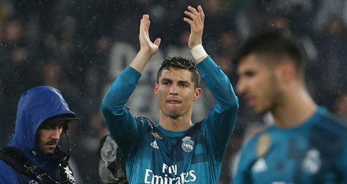 Cristiano Ronaldo comemora su gol (archivo)