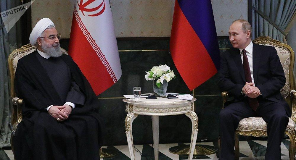 Presidente de Irán, Hasán Rohaní, y presidente ruso, Vladímir Putin