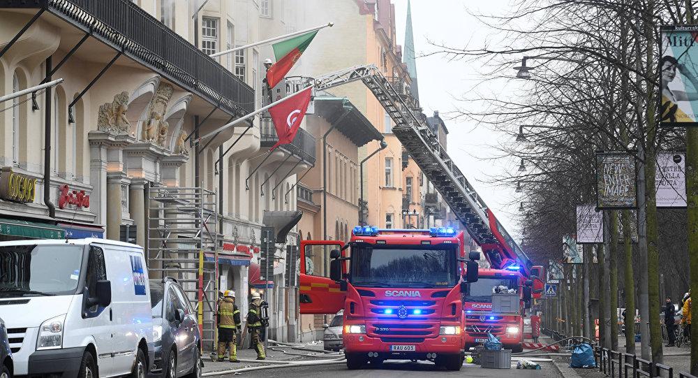 Incendio en Estocolmo, Suecia, el 4 de abril de 2018