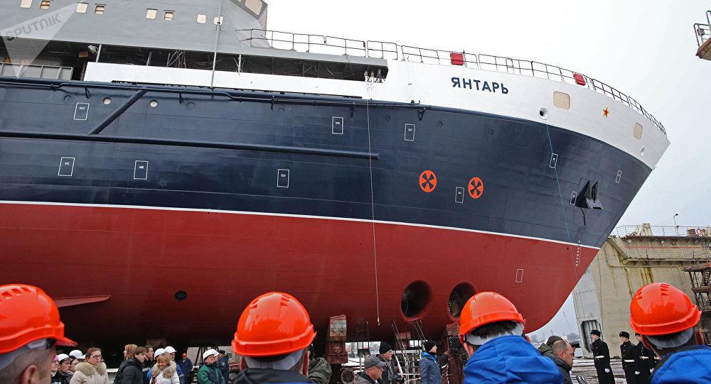 La botadura del buque oceanográfico Yantar, archivo