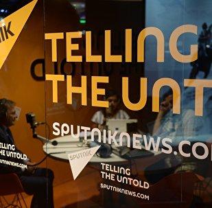El logo de la agencia Sputnik (archivo)
