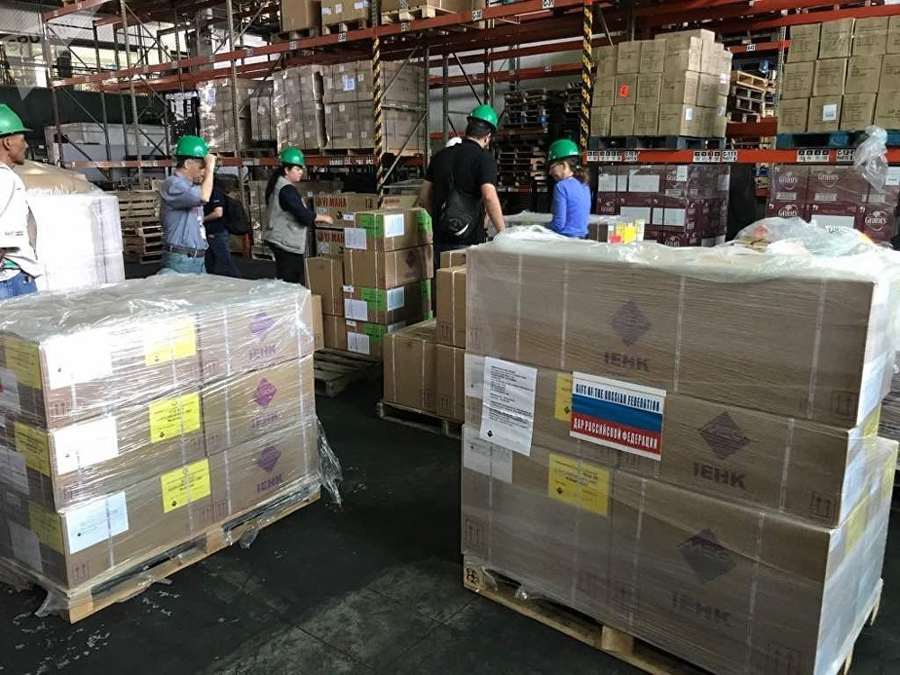 Medicamentos donados a Venezuela por Rusia