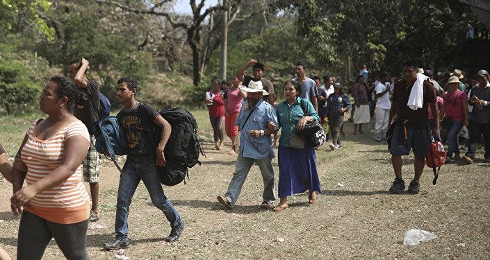 Migrantes de América Central en Oaxaca, México (archivo)