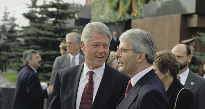 Bill Clinton, de aquel entonces presidente de EEUU, en Moscú en 1995