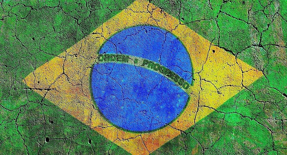 Grafiti de la bandera de Brasil