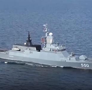 Tres potentes corbetas de Rusia ponen a prueba sus armas en el Báltico