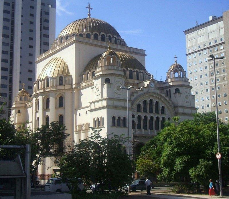 Catedral metropolitana ortodoxa en Sao Paulo, Brasil