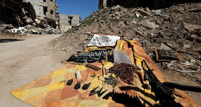 Las municiones de los terroristas en Siria (imagen referencial)