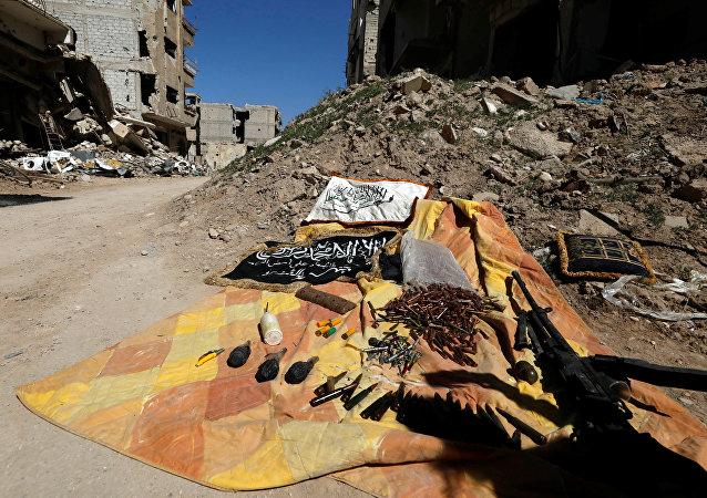 Las municiones de los terroristas en Siria (archivo)