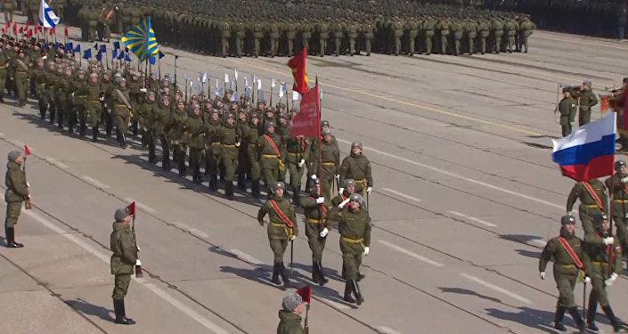 Rusia se prepara para su tradicional desfile del Día de la Victoria