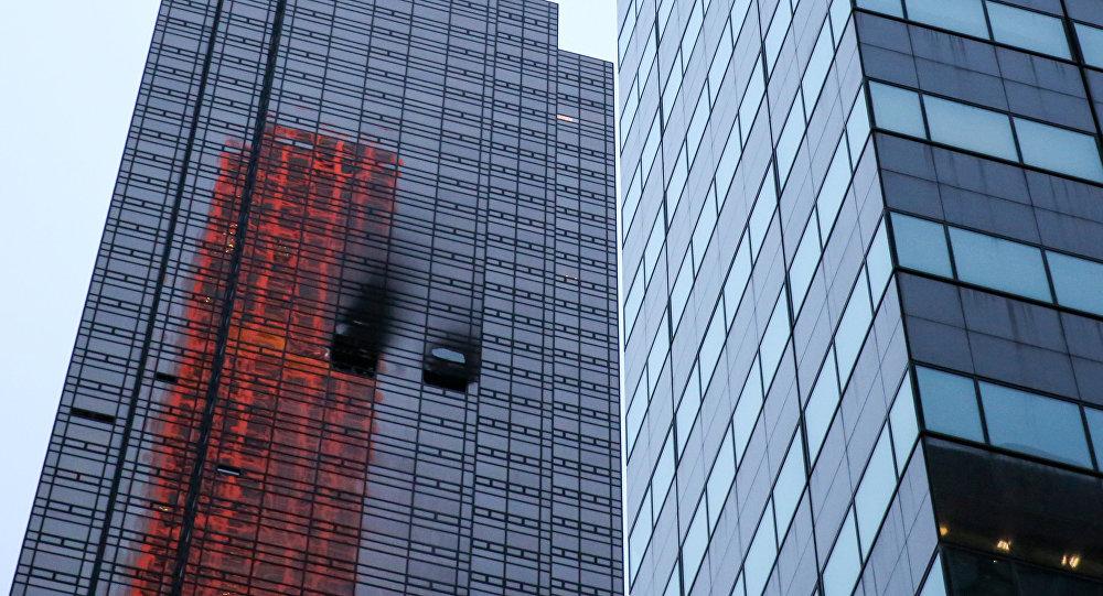Incendio en Torre Trump en Nueva York