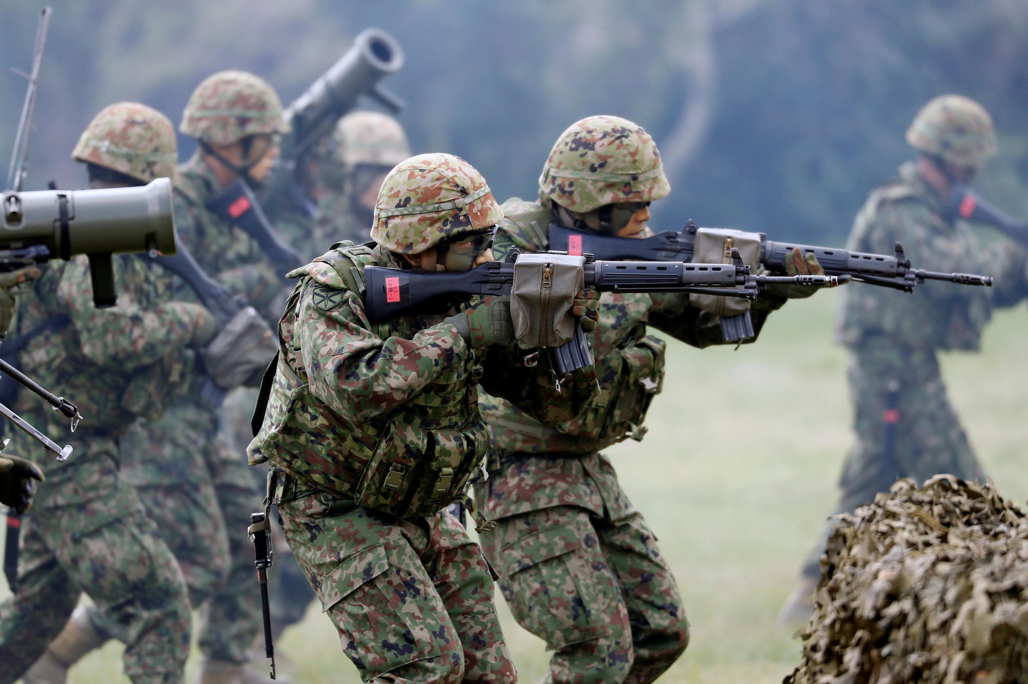 La brigada de marines japoneses de la Amphibious Rapid Deployment Brigade