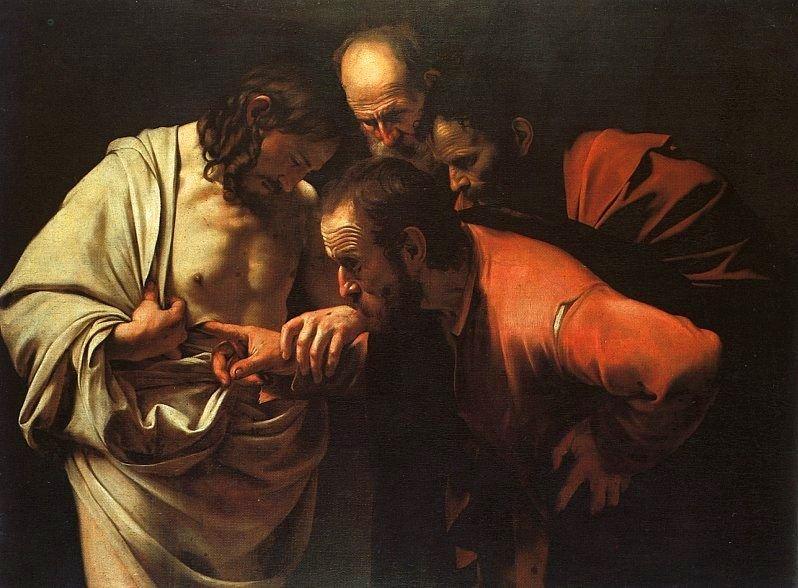 'La incredulidad de Santo Tomás' de Caravaggio