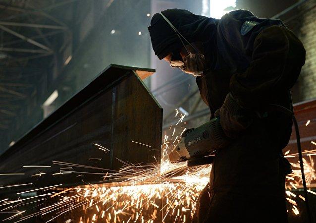 Producción de estructuras de acero (archivo)