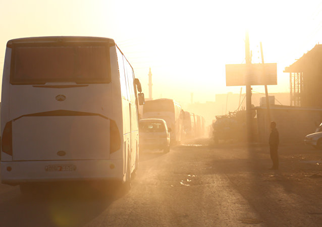 Evacuación de los radicales en Siria (Archivo)