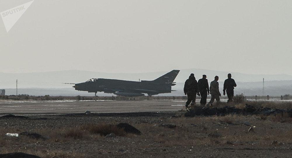 La base aérea siria en Homs (archivo)