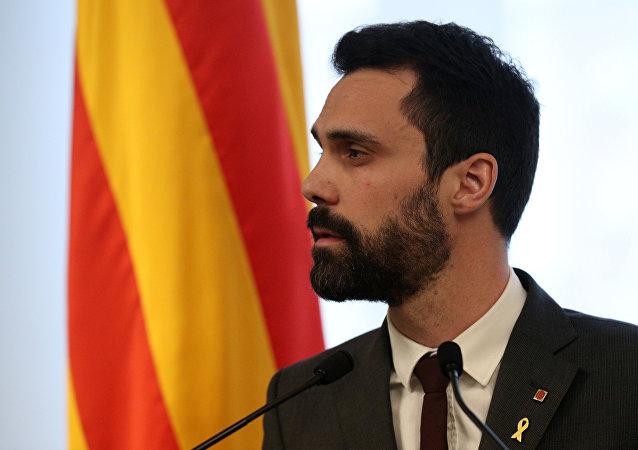 Roger Torrent, el presidente del Parlamento de Cataluña
