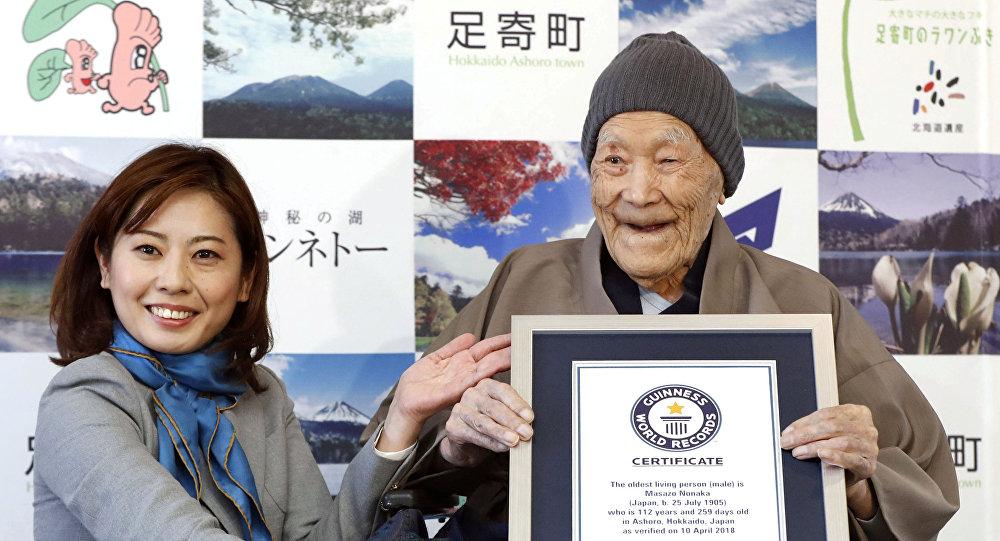 El japonés Masazo Nonaka, el hombre más anciano del mundo