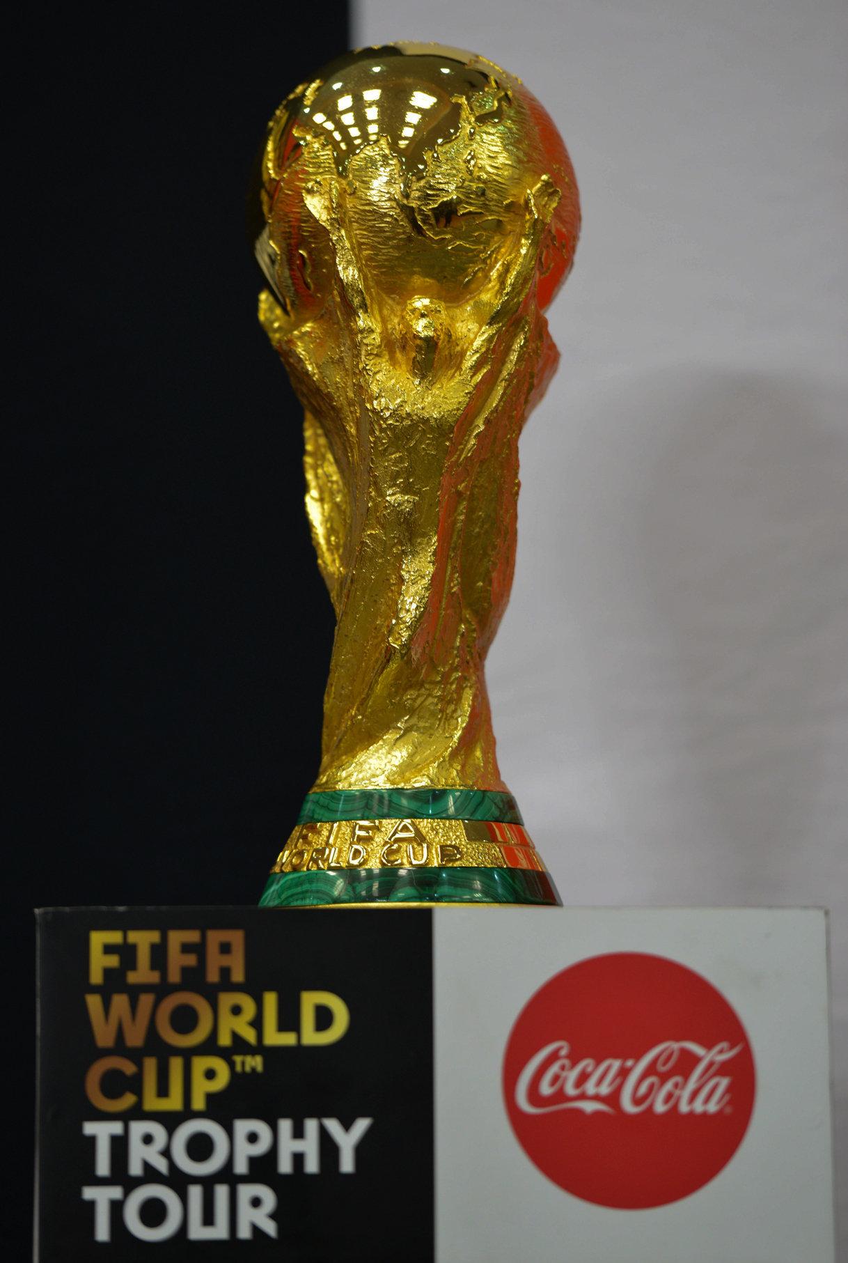 El trofeo original de la Copa Mundial de la FIFA 2018
