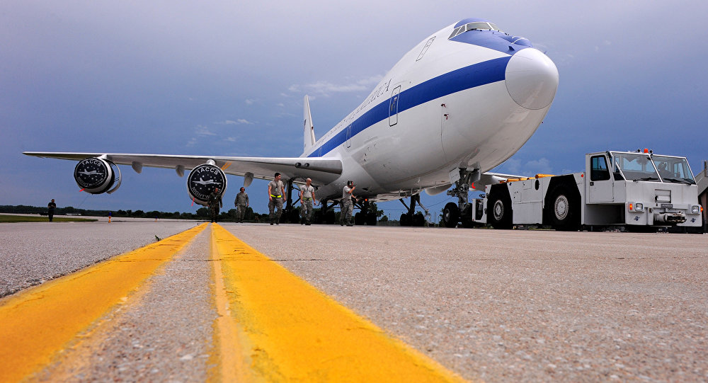Un avión E-4B Nightwatch