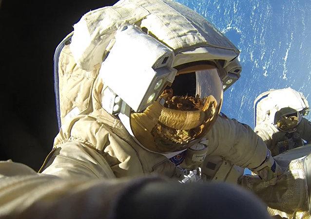 Cosmonautas rusos en la Estación Espacial Internacional