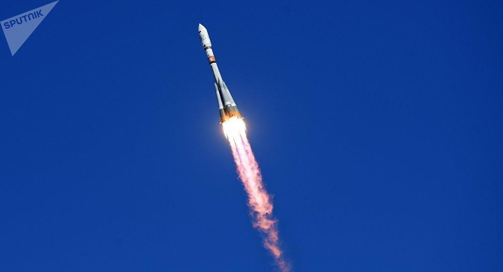 Un cohete portador ruso Soyuz