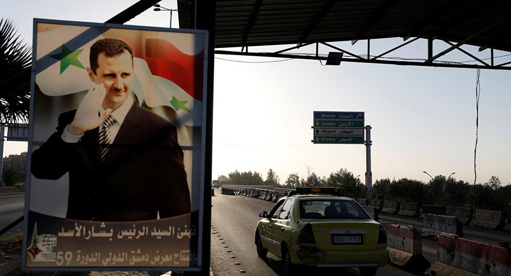 Retrato de Bashar Asad, presidente de Siria