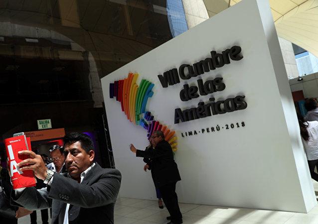 La VIII Cumbre de las Américas en Lima, Perú