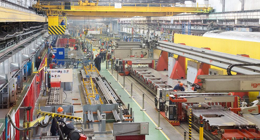 Talleres ferroviarios de alta tecnología de la empresa privada rusa Transmashholding.