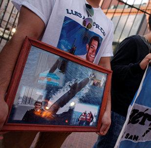Manifestacion de los familiares de la tripulación del submarino ARA