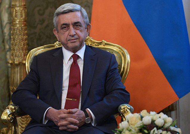 Serzh Sargsián, presidente armenio (archivo)