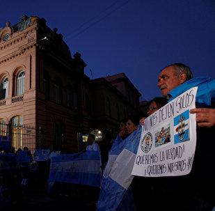 Familiares de los tripulantes del submarino desaparecido ARA San Juan