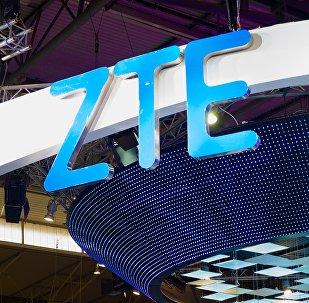 El logotipo de la empresa china ZTE