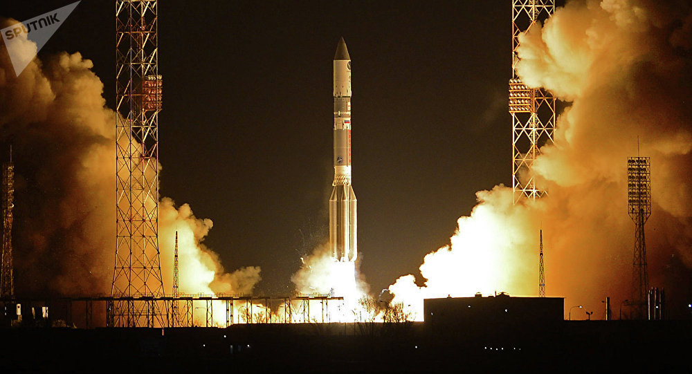 Cohete portador Protón-M con el bloque propulsor Briz-M (Archivo)