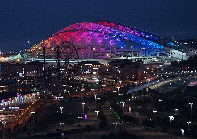Estadio Fisht en Sochi, Rusia (archivo)
