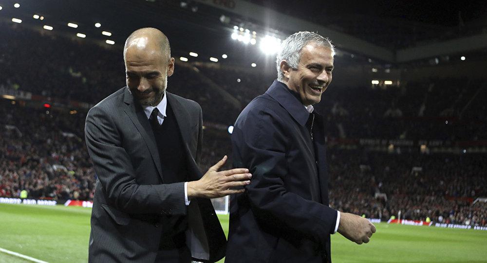 Josep Guardiola y José Mourinho (Archivo)