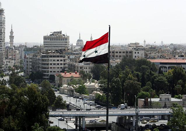 La bandera de Siria en Damasco (archivo)