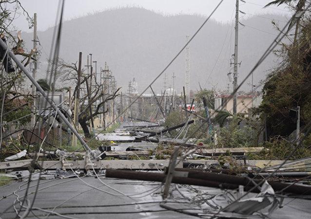 Las consecuencias del huracán María en Puerto Rico (archivo)