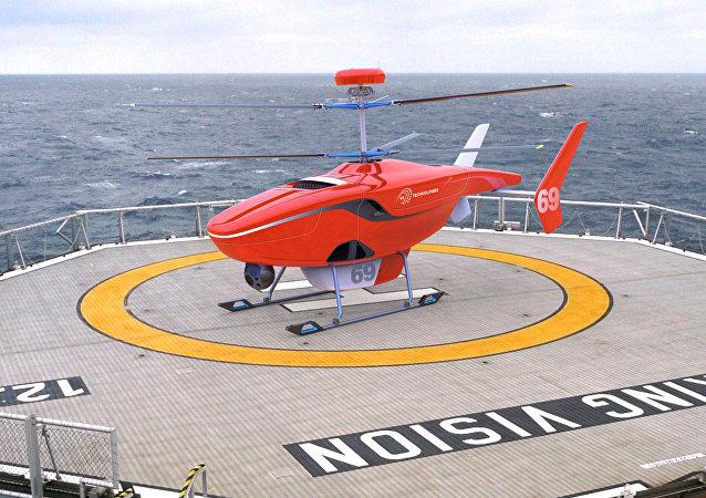 Helicóptero no tripulado VRT300 (imagen gráfica)