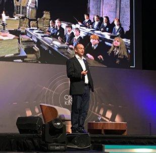 Gonzalo Muñoz, ideador de TriCiclos, en el America Business Forum en Uruguay
