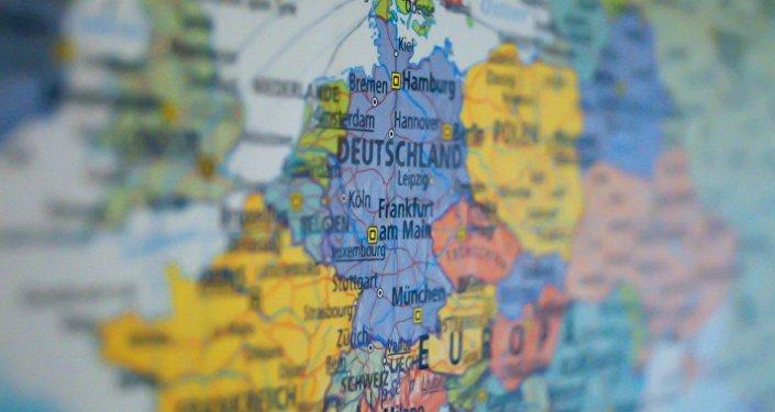 Mapa de Alemania dentro de Europa