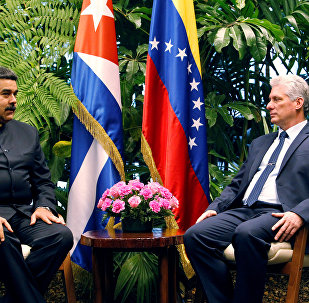 El presidente de Venezuela, Nicolás Maduro, y su homólogo cubano, Miguel Díaz-Canel