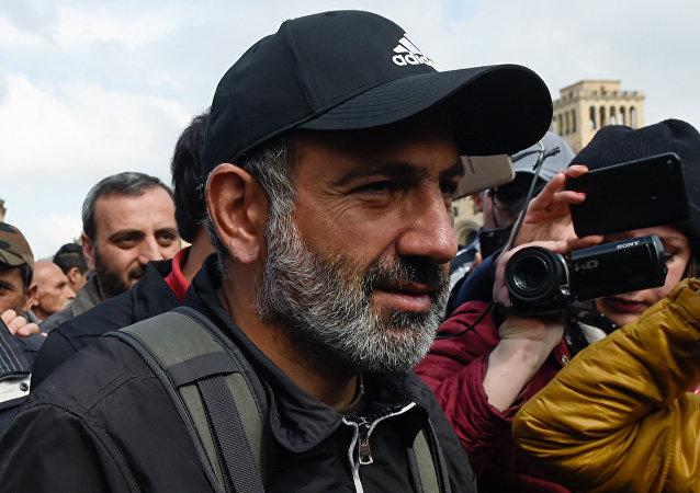 El diputado opositor Nikol Pashinián (archivo)