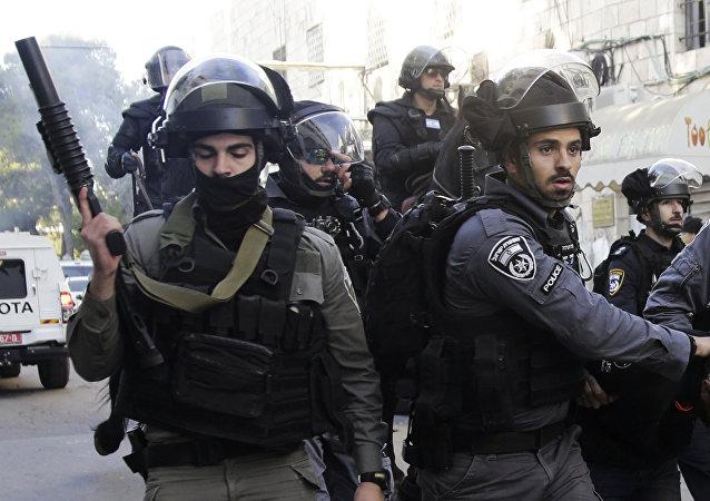 Policías antidisturbios israelíes, foto de archivo