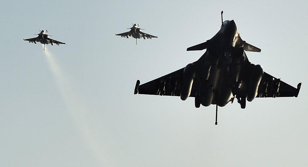 Cazas franceses en la operación contra Daesh en Siria y Irak