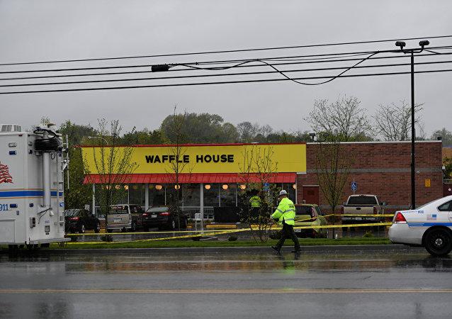 Lugar del tiroteo en Nashville, EEUU